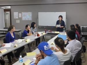 日本語講座授業の様子